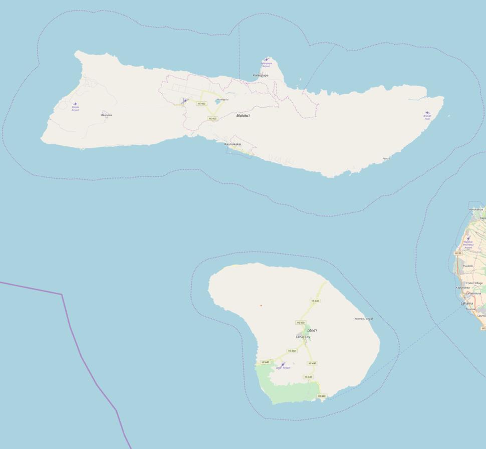 Kamakou is located in Molokai and Lanai