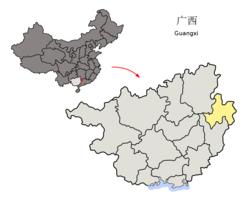 Vị trí của the county