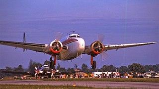 Lockheed Model 18 Lodestar American passenger transport aircraft of the World War II era