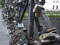 Locks on the bridge in Vilnius (17993792773).jpg