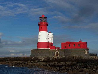 Farne Islands - Longstone lighthouse in the Farnes from where Grace Darling and her father launched their rescue.
