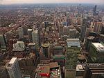 Looking North from CN Tower, Toronto, Ontario (21652199110).jpg