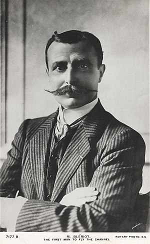 Blériot Aéronautique - Louis Blériot, photographed in London after his cross-channel flight