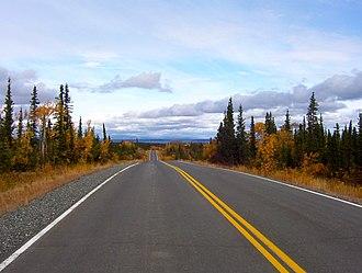 Lake Louise, Alaska - Image: Louisefromadistance