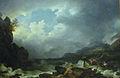 Loutherbourg-Un orage sur le lac Windermere avec un bateau en perdition.jpg