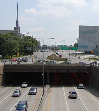 Interstate 94 in Minnesota - Lowry Hill Tunnel in Minneapolis.