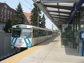 Edmonton Light Rail Transit - Siemens-Duewag U2 car in Health Sciences Station