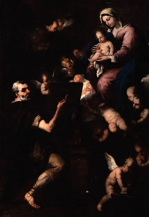 Saint Luke paints the Virgin