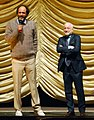 Luca Guadagnino and André Aciman at the screening of Call Me By Your Name, 2017 Berlin International Film Festival.jpg