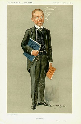 "Lucien Wolf - ""Diplomaticus"" Wolf as caricatured in Vanity Fair, December 1911"