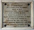 Lungarno guicciardini 21 (palazzo Schneiderff), targa caterina da siena, raffaello, napoleone, lord byron, walter scott.JPG