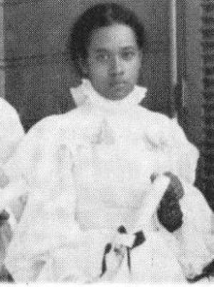 Lydia Kaʻonohiponiponiokalani Aholo - Lydia Aholo in the graduating class Kamehameha School for Girls in 1897