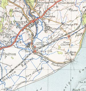 Lydney - A map of Lydney from 1946