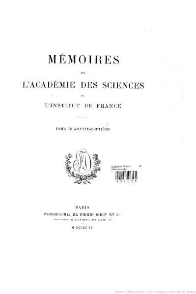 File:Mémoires de l'Académie des sciences, Tome 47.djvu