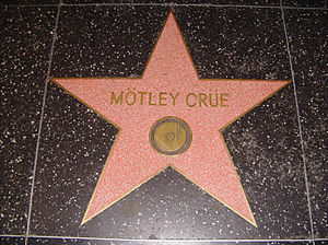 Metal umlaut - Mötley Crüe's Hollywood Walk of Fame star, which shows the two metal umlauts used in the band's name