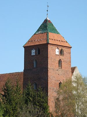 Młynary - Image: Młynary kościół