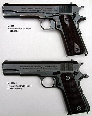 M1911 and M1911A1 pistols.JPG