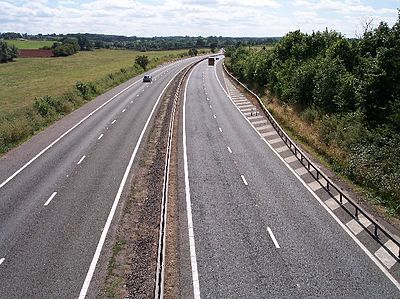 The M50 motorway near Ledbury and Ross-on-Wye. M50 motorway from Ryton Bridge.jpg