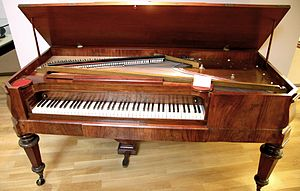Square piano (Riga, around 1855)