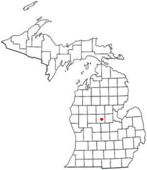 Isabella Indian Reservation - Image: MI Map doton Mount Pleasant