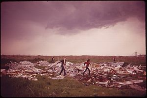Arthur Tress - Tress's photograph of boys playing on a municipal incineration plant and landfill dump at Gravesend Bay, taken for the DOCUMERICA program