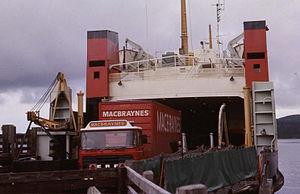 MV Pentalina-B - 1979 on Islay ferry route.