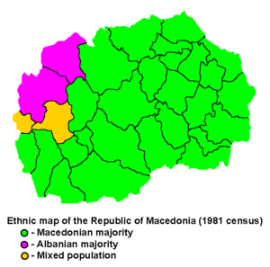 Albanians in the Republic of Macedonia - Image: Macedonia ethnic