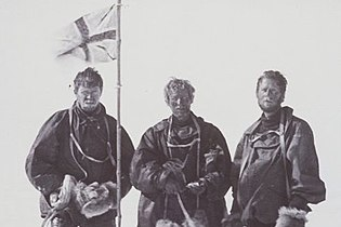 Mackay, David, and Mawson at the South Magnetic Pole.jpg
