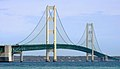 I-75 crossing the Mackinac Bridge