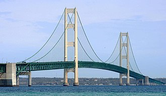 Interstate 75 - Mackinac Bridge in Michigan