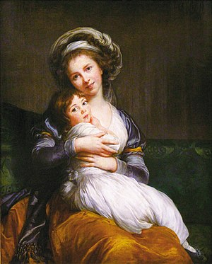 Élisabeth Vigée Le Brun - Self-portrait with her daughter Jeanne-Lucie, 1786