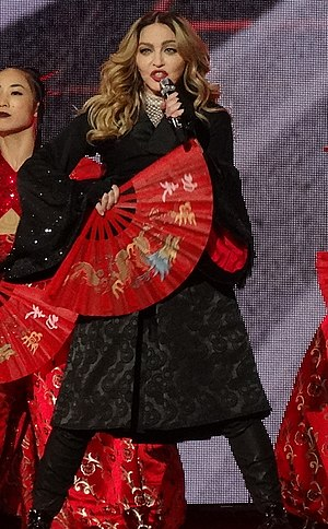 Madonna videography - Image: Madonna 8 (24527553849) (2) (cropped)