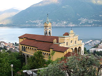 Orselina - Convent and church of Madonna del Sasso