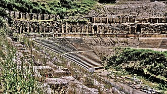 Magnesia on the Maeander - The great amphitheater at Magnesia, the best-preserved in the Anatolian region.