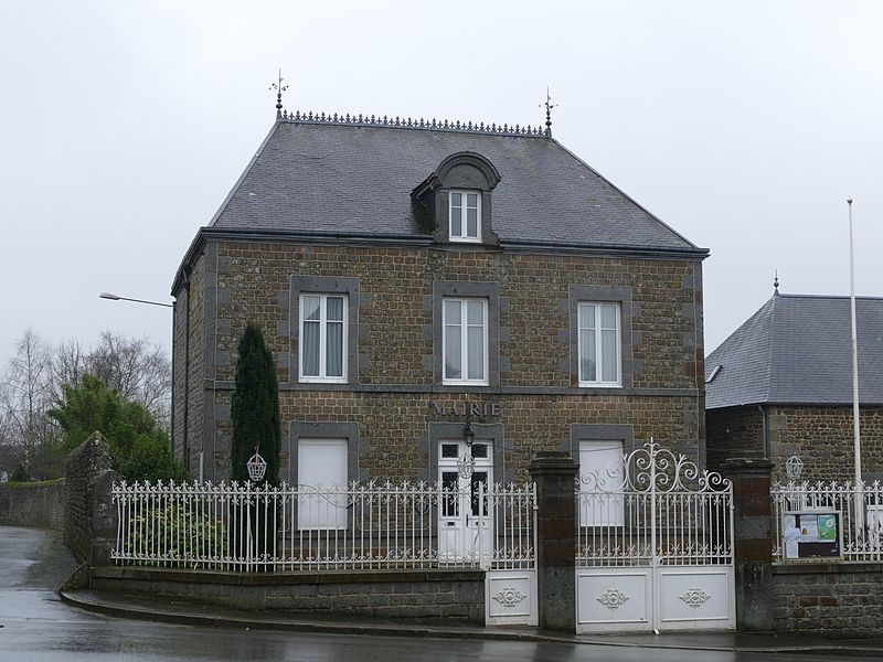 The city hall in Magny-le-Désert (Orne, Normandie, France).