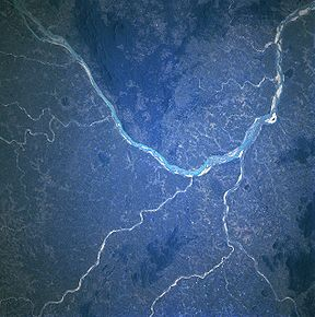 The Mahanadi as seen from space.