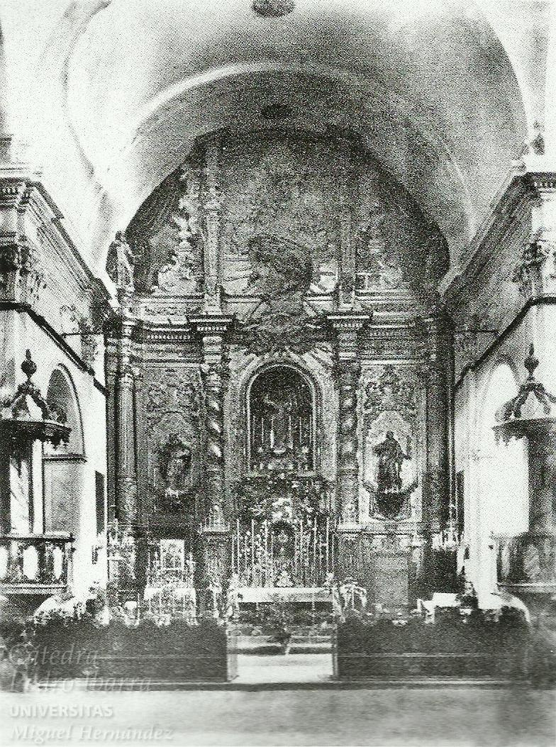 Main altarpiece of the Church del Salvador (Elche) before it was burned by Republicans