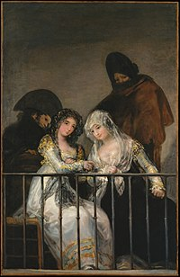Majas on Balcony by follower of Francisco de Goya.jpg