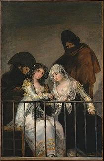 Majas on Balcony by follower of Francisco de Goya.jpg