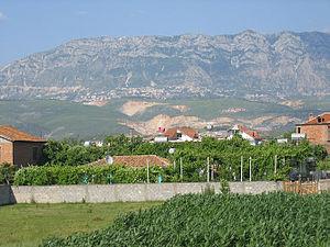 Siege of Krujë (1450) - Mount Tumenishta (Skenderbeu) as seen from Fushë Krujë