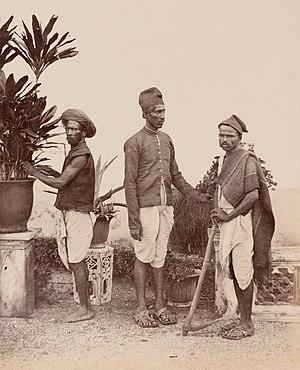 Mali caste - Malis in western India (c. 1855-1862).