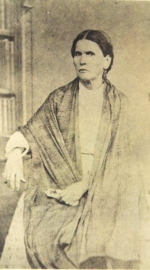Porfirio Díaz - María Mori Cortés, mother of Porfirio Díaz, in a photograph made around 1854 in Oaxaca.