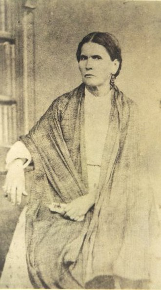 Porfirio Díaz - María Mori Cortés, mother of Porfirio Díaz, in a photograph made around 1854 in Oaxaca.