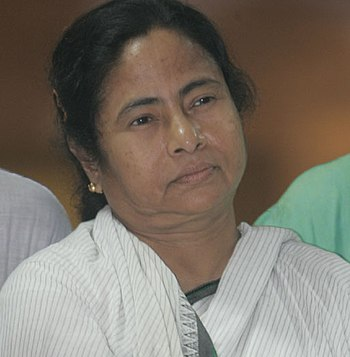 English: Trinamool Congress chief Mamata Baner...