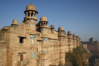 Tomaras of Gwalior - The Man Singh (Manasimha) palace at the Gwalior fort