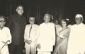 Mani Ram Bagri with Jakhar, Hidayatullah, Indira Gandhi and Sanjiva Reddy.png
