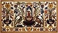 Manifattura fiorentina, paliotto con sant'angelo toma, cartiglio, fiori, frutta e animali, in commesso di pietre dure, 1647, 01.jpg