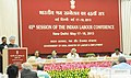 Manmohan Singh delivering the inaugural address at the 45th session of the Indian Labour Conference, in New Delhi. The Union Minister for Labour and Employment.jpg