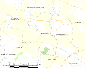 Beaumont, Gers - Beaumont and its surrounding communes