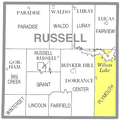 Map highlighting Plymouth Township, Russell County, Kansas.png